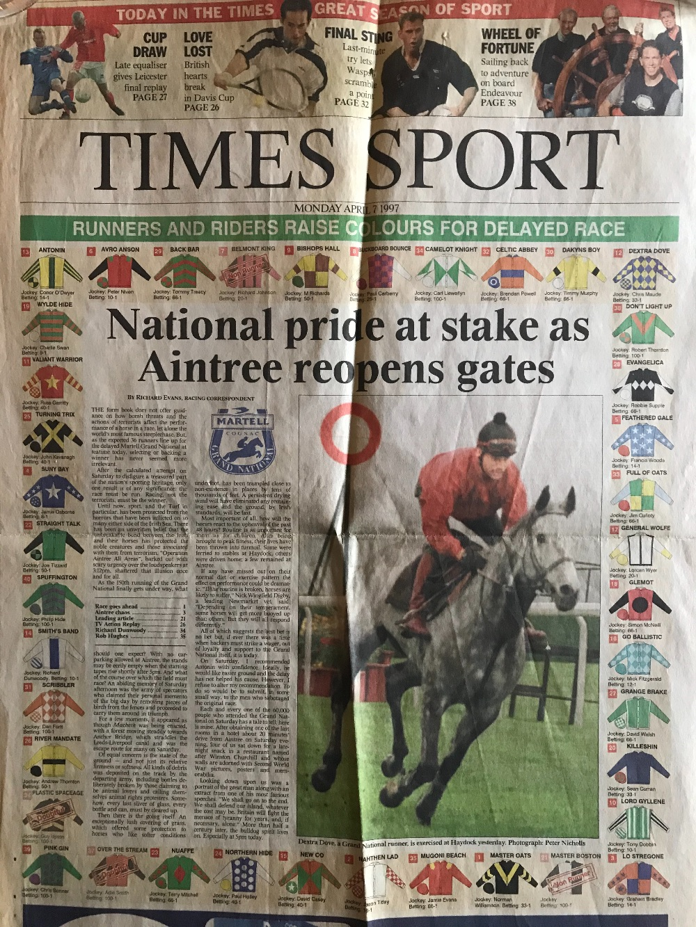 Grand National - 1997 - The Year of the IRA Bomb Scare - great memories